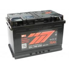 Автомобильный аккумулятор 777 RED (АКОМ) 75 А/ч полярность любая