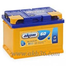 Автомобильный аккумулятор АКОМ 60 А/ч