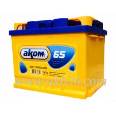 Автомобильный аккумулятор АКОМ 65 А/ч