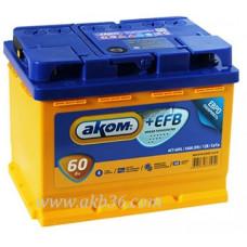 Автомобильный аккумулятор АКОМ EFB 60 А/ч