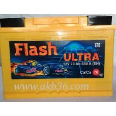 Автомобильный аккумулятор FLASH ULTRA 70 А/ч