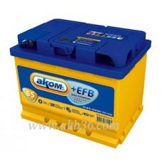 Автомобильный аккумулятор АКОМ EFB 65 А/ч