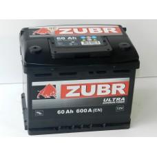 Автомобильный аккумулятор ZUBR ULTRA 60 А/ч