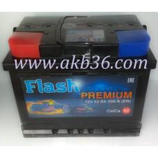 Автомобильный аккумулятор FLASH PREMIUM 62 А/ч