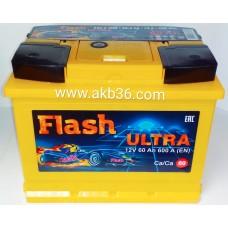 Автомобильный аккумулятор FLASH ULTRA 60 А/ч
