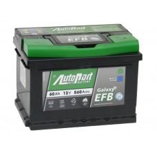 Автомобильный аккумулятор AUTOPART EFB 60 А/ч обр/п