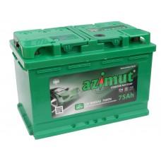 Автомобильный аккумулятор AZIMUT (АКОМ) 75 А/ч полярность любая