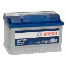 Автомобильный аккумулятор BOSCH 72 А/ч обр/п низкий
