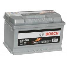 Автомобильный аккумулятор BOSCH 74 А/ч Silver Plus  (низкий)