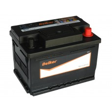 Автомобильный аккумулятор DELKOR 61 А/ч обр/п низкий