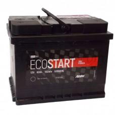 Автомобильный аккумулятор ECOSTART 62 А/ч