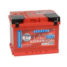 Автомобильный аккумулятор E-LAB EFB 62 А/ч обр/п