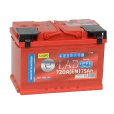 Автомобильный аккумулятор E-LAB EFB 75 А/ч обр/п