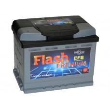 Автомобильный аккумулятор FLASH PREMIUM 62 А/ч EFB п/п