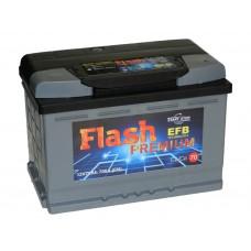 Автомобильный аккумулятор FLASH PREMIUM 70 А/ч EFB обр/п.