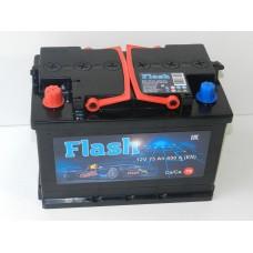 Автомобильный аккумулятор FLASH  75 А/ч