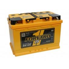 Автомобильный аккумулятор FORVARD (АКОМ) 75 А/ч полярность любая