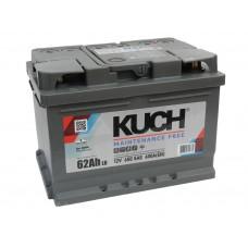Автомобильный аккумулятор KUCH (АКОМ) 62 А/ч низкий обр/п