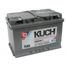 Автомобильный аккумулятор KUCH (АКОМ) 75 А/ч полярность любая