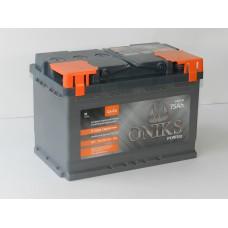 Автомобильный аккумулятор ONIKS 75 А/ч