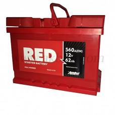 Автомобильный аккумулятор RED 62 А/ч