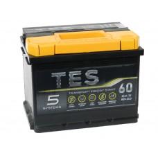 Автомобильный аккумулятор TES 60 А/ч
