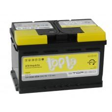 Автомобильный аккумулятор TOPLA EFB Stop & Go 65 А/ч обр/п низкий