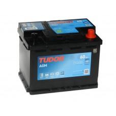 Автомобильный аккумулятор TUDOR  60 А/ч AGM (EXIDE)