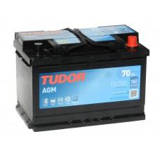 Автомобильный аккумулятор TUDOR  70 А/ч AGM (EXIDE)