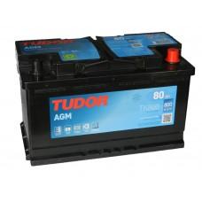 Автомобильный аккумулятор TUDOR  80 А/ч AGM(EXIDE)