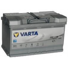 Автомобильный аккумулятор VARTA Silver Dynamic AGM 80 А/ч F21