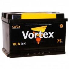 Автомобильный аккумулятор VORTEX 75 А/ч(низкий)
