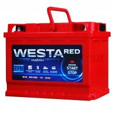 Автомобильный аккумулятор WESTA red EFB 60 А/ч