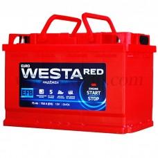 Автомобильный аккумулятор WESTA red EFB 75 А/ч