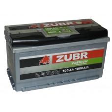 Автомобильный аккумулятор ZUBR Premium 105 А/ч обр/п