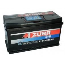 Автомобильный аккумулятор ZUBR EFB 110 А/ч обр/п