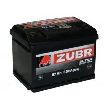 Автомобильный аккумулятор ZUBR ULTRA 62 А/ч обр/п. (низкий)