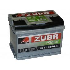 Автомобильный аккумулятор ZUBR Premium 65 А/ч ( низкий)