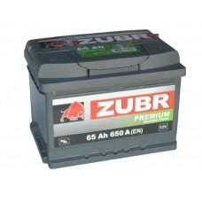 Автомобильный аккумулятор ZUBR Premium 65 А/ч обр/п  низкий