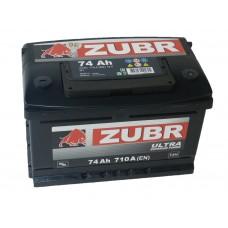 Автомобильный аккумулятор ZUBR ULTRA 74 А/ч