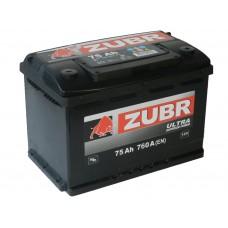 Автомобильный аккумулятор ZUBR ULTRA 75 А/ч обр/п