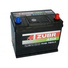 Автомобильный аккумулятор ZUBR Premium AZIA 75 А/ч