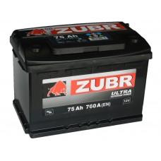 Автомобильный аккумулятор ZUBR ULTRA 75 А/ч п/п