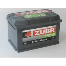 Автомобильный аккумулятор ZUBR Premium 77 А/ч