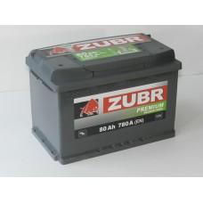 Автомобильный аккумулятор ZUBR Premium 80 А/ч