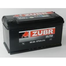 Автомобильный аккумулятор ZUBR ULTRA 90 А/ч